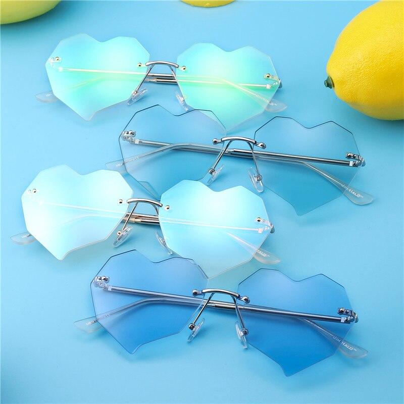 Jim Halo Heart gafas de sol sin montura mujeres irregulares claro - Accesorios para la ropa - foto 6