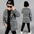 2016 Autumn Toddler Boys Coats Clothes Plaid Kids Jacket Turn-down Collar Long Sleeve Single Breasted Fashion Kids Plaid Coat