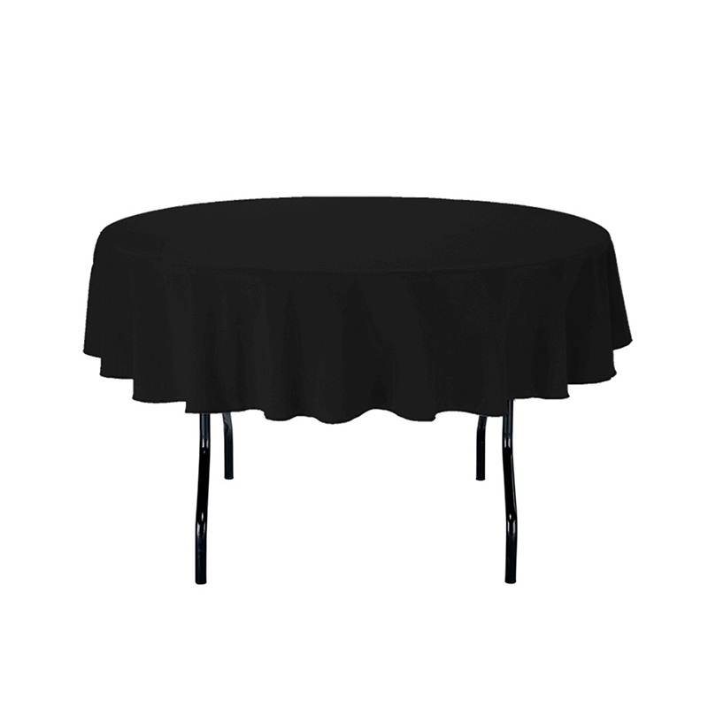 HK DHL Stain Feel 70 inch/180cm Polyester Round Red Tablecloth for Wedding, 5/Pack