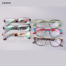 Mix Wholesale high quality metal glasses Women eyeGlasses Frame  Oculos de grau femininos for reading glasses myopia frame gafas цена