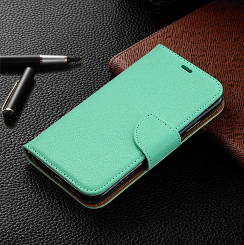 2019 Litchi Flip Leather Case For Galaxy A30 Cases A70 A40 Mobile Book Wallet Cover For Samsung A50 A20 A20E A10 A10E Case Coque
