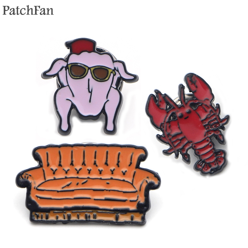 A0328 Patchfan Newest friends TV show lobster Sofa Pins