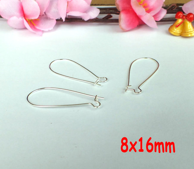 free ship!!!Wholesale 200pcs 8x16mm silver plated Earring Wires ...