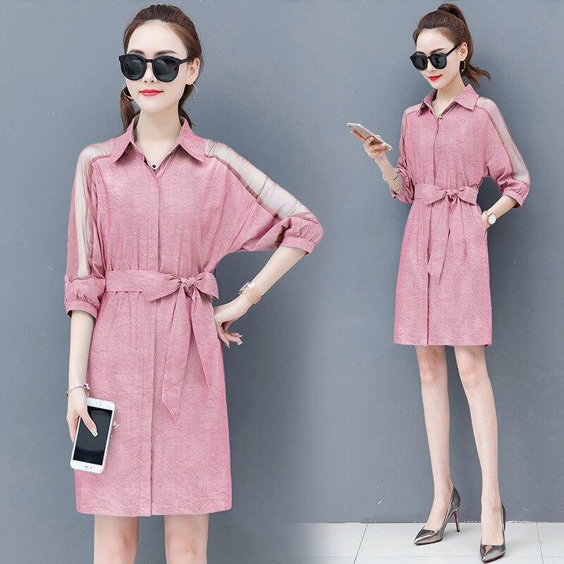 Dress female spring and autumn 2019 new fashion commuter slim strapless denim dress tide vestido Q280 2