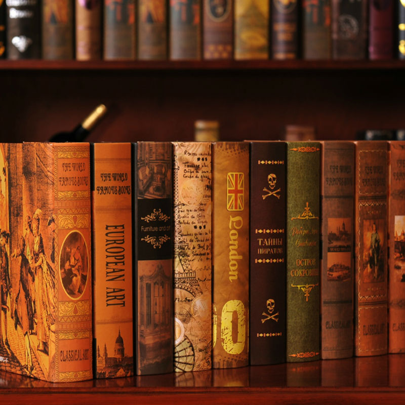 Decorative Fake Book Boxes Pleasing European Decorative Bookcase Books Photography New House Ornaments Review