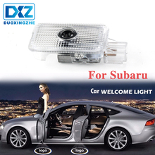 DXZ 2Pcs Car Logo Door Welcome Light LED Projector Laser For SUBARU Forester Outback legacy Impreza XV car accessories