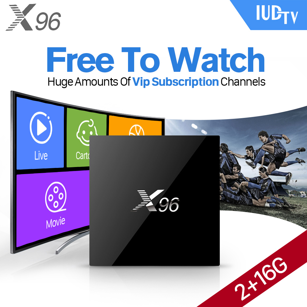 4K X96 Android 6.0 TV Box 3 6 12 Months IUDTV Code IPTV Abonnement Channels Europe French Spain Arabic IPTV Top Box hot x96 tv box 2gb 16gb s905x quad core 2 4ghz wifi hdmi smart set top box with iudtv iptv abonnement french arabic iptv top box