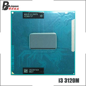 Intel Core i3-3120M i3 3120M SR0TX 2.5 GHz Dual-Core Quad-Thread CPU Processor 3M 35W Socket G2 / rPGA988B