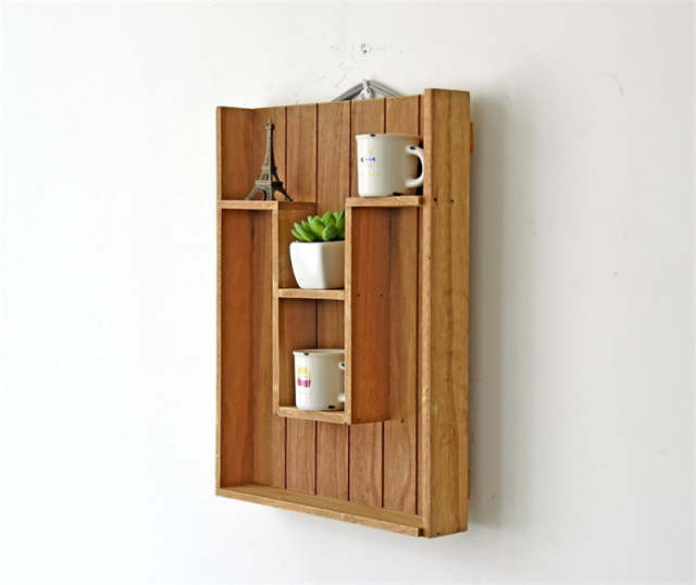 zakka home decor wooden furniture cabinet wood wall shelves home decor wooden furniture Zakka wood display Shelf stand Wall Holder kitchen Box Washroom Tray Door  Rack Sundries gadgets wooden