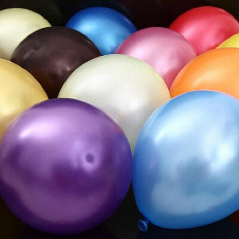 LDTEXMY 12 Pouces 2.8g 50 pcs Latex Ballons D'anniversaire de Noce Décoratif jouets Perle hélium Ballon Boules Globos Balony 12