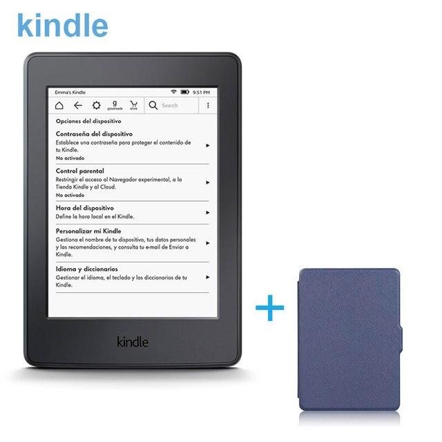 Новый Kindle E-book Reader USB 2.0 Зарядный Кабель Wi-Fi 4 ГБ E-ink Экран Национальный ПТА Облако Коллекции + синий Крышка