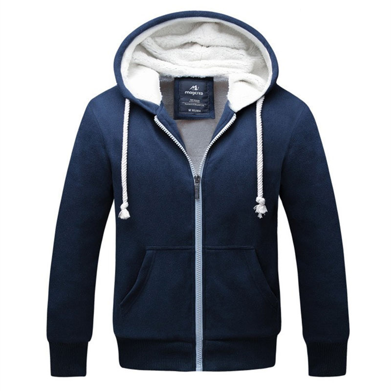 Winter Jacket Men 2018 Brand Clothing Thick Sweatshirt Men Hoodies High Quality Velvet Hoody Mens Tracksuit Moleton Masculino