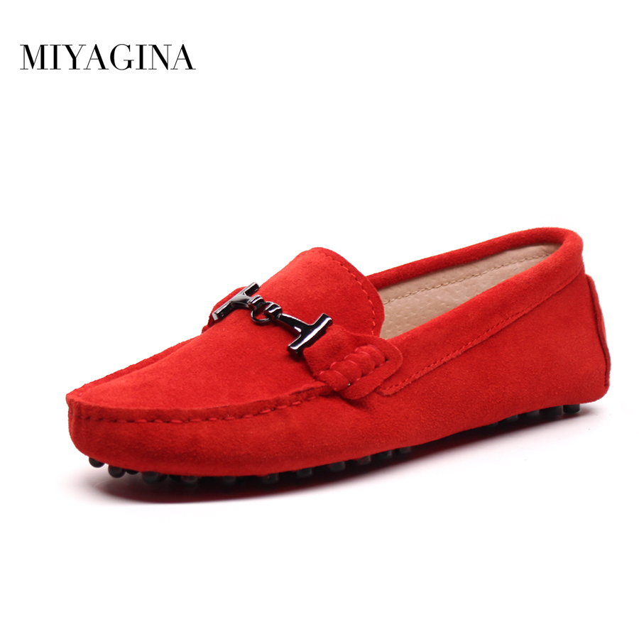 Shoes Women 2018 New brand women genuine Leather flats casual female Moccasins Spring Summer lady loafers Women Driving Shoes