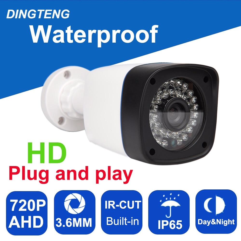 CCTV Camera CMOS with IR-Cut filter 24 pcs leds AHD Camera 1MP 720P Indoor / Outdoor Waterproof CCTV Security Camera