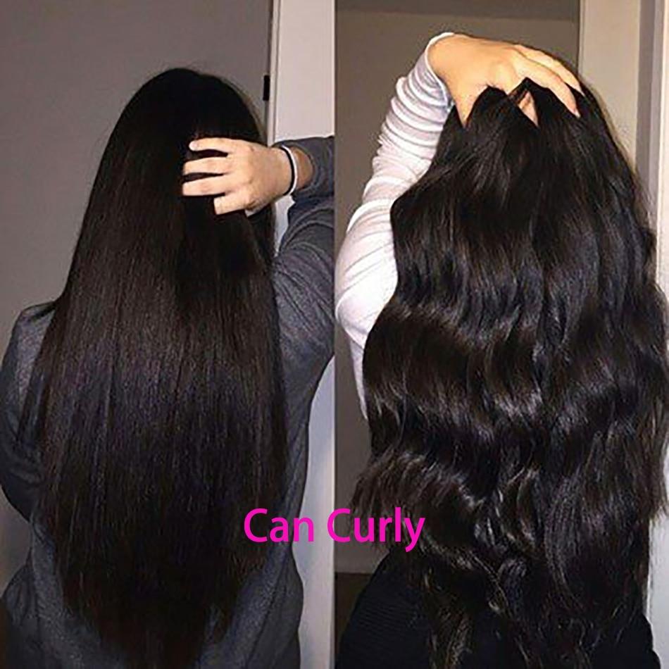 Raka hårbuntar Brasilianska hårvävbuntar mänskliga hårbuntar - Mänskligt hår (svart) - Foto 5