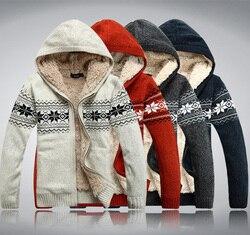 2020 Winter Man Met Een Kap Plus Fluwelen Verdikking Trui Plus Size Plus Size Trui Vest