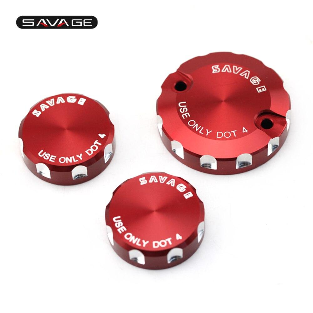 For DUCATI Hypermotard/Multistrada/Monster 1100/S/EVO 1200/S/R Front Brake Clutch & Rear Brake Fluid Reservoir Cover Cap