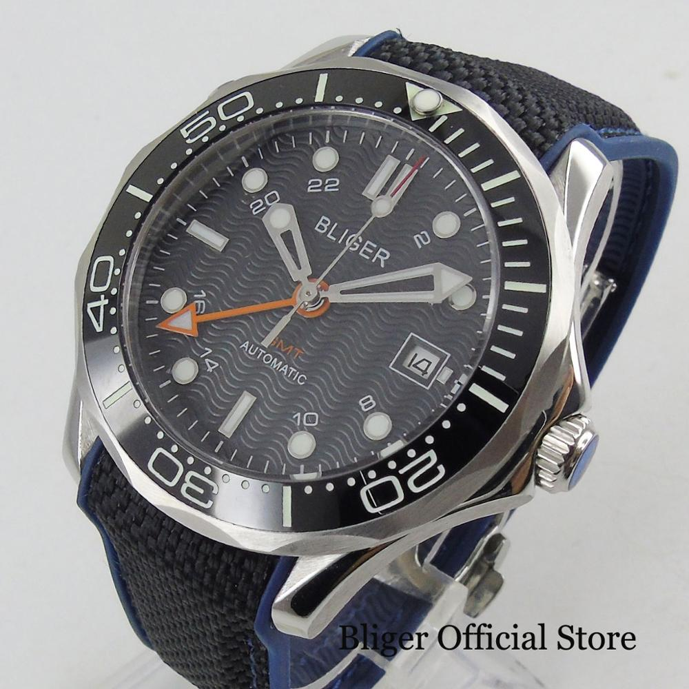 New Arrival Automatic Mens Watch 41mm Black Dial with GMT Hand Sapphire GlassNew Arrival Automatic Mens Watch 41mm Black Dial with GMT Hand Sapphire Glass