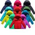 2017 зима новый мальчик и девочка одежда пальто топ, детские толстые теплые пуховики, дети спорт с капюшоном верхняя одежда 11 цвета