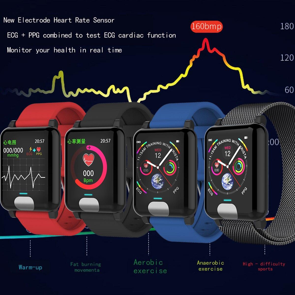 Image 3 - XGODY E04 ECG + PPG умный Браслет монитор сердечного ритма фитнес трекер Смарт браслет кровяное давление браслеты для наручных часов для IOS Android-in Смарт-браслеты from Бытовая электроника