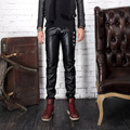 2013 new arrival autumn high quality faux leather pants for men hot skinny leather pants boys new mens skinny leather pants