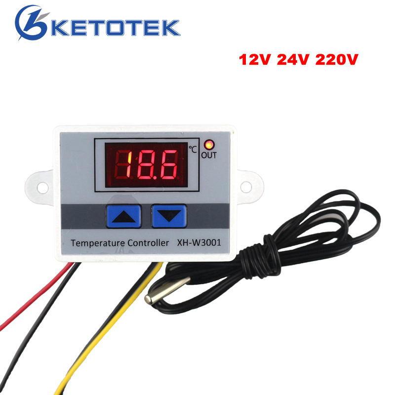 все цены на Digital Thermostat Temperature Regulator controller AC 220V 12V 24V -50~110C With Probe онлайн