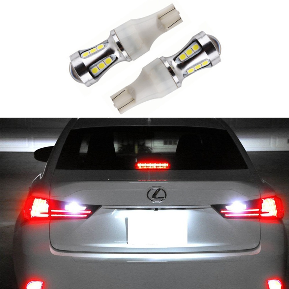 2pcs T15 <font><b>T10</b></font> <font><b>18</b></font> <font><b>SMD</b></font> 3030 LED Canbus OBC Error Free Bulbs Interior Emitter LED 921 912 W16W Car lamps External Auto Lights image