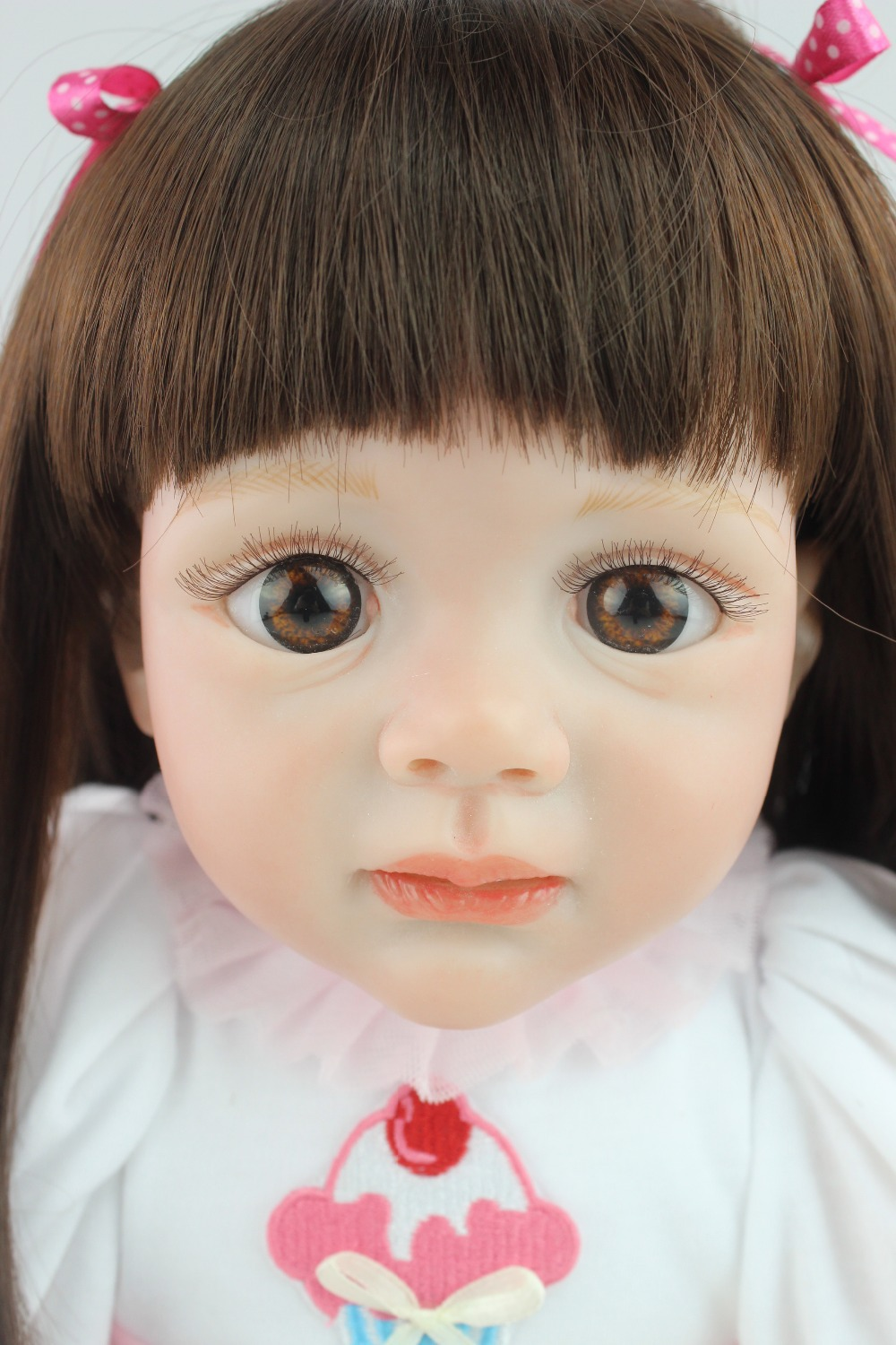 2015 new design 24inch Reborn Toddler baby doll Fridolin lifelike sweet girl real gentle touch