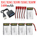Syma 1400mAh 3.7V LiPo Battery + Ac 5 in 1 Charger + Conversion line Spare Parts For X5 X5C X5SC X5SW X5HC X5HW RC Helicopter