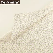 Teramila 100% Cotton Flroal Fabric Tecido Sewing Patchwork Tela DIY Handmade Tissus Au Metre Dress Bedsheet Baby Clothing Quilts(China)