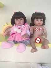 Nieuwe full body siliconen versie roze Giraffe pop zeer flexibele siliconen waterdicht bad speelgoed levensechte bebe pop reborn baby