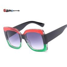 Samjune Oversized Square Sunglasses Women Fashion Gradient Lens Sun Gla