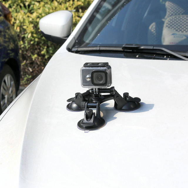 SHOOT Large/Small Size Car Windshield Suction Cup for GoPro Hero 6 5 7 Session Sjcam H9 Yi 4K Action Camera Tripod Holder Mount