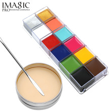 Makeup Set Special Effects Stage Makeup Fake Wound Scars Wax + Oil Painting(flash color) + Spatula Tool Halloween products