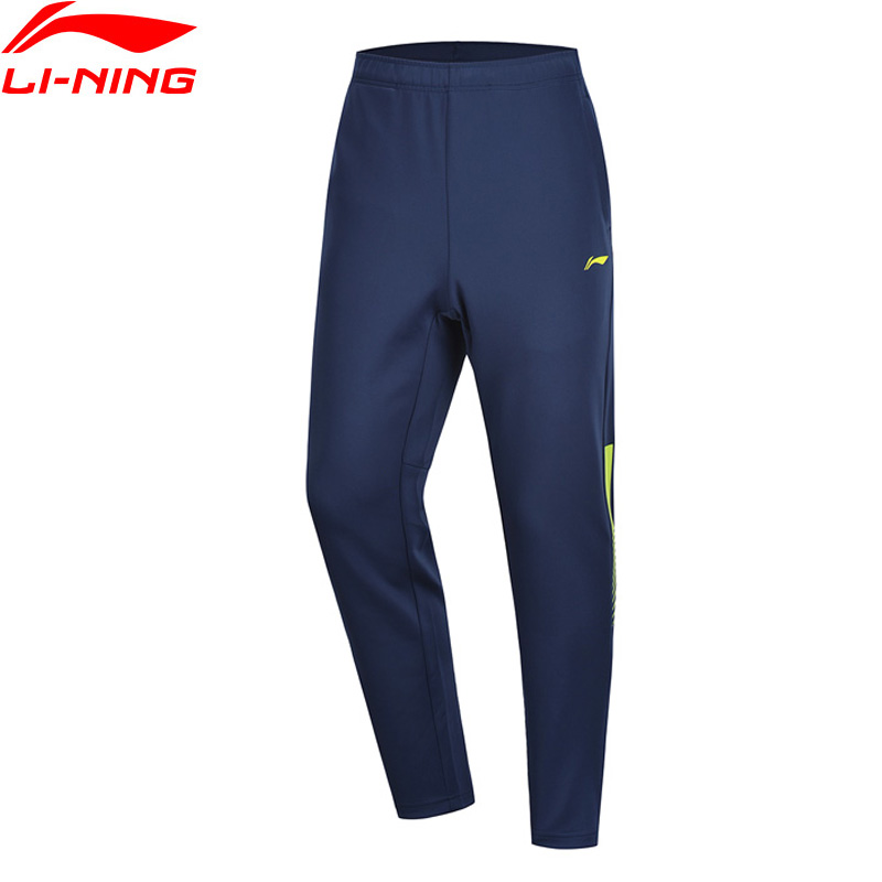 Li-Ning Men Training Sweat Pants Regular Fit 90% Polyester 10% Spandex LiNing Li Ning Fitness Sports Trousers AKLP151 MKY474