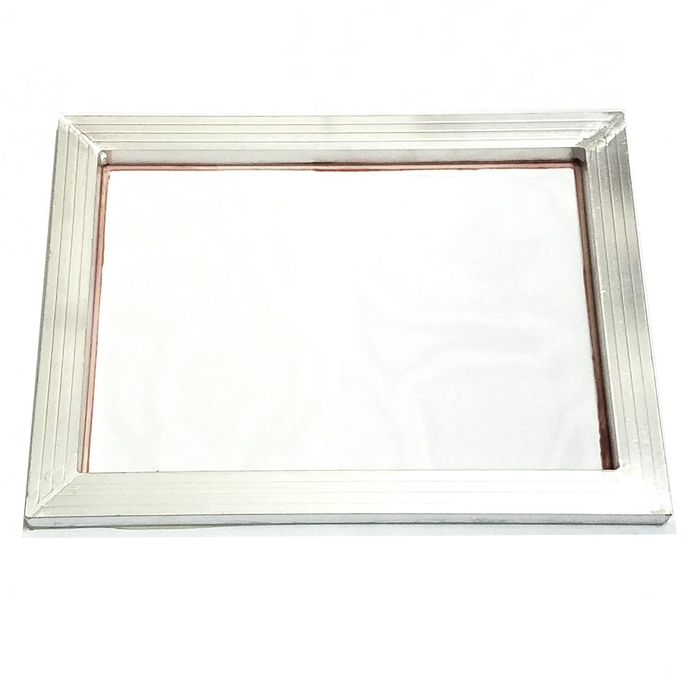 Screen Printing Aluminium Frame Stretched 41cm*51cm With White 32T-120T Silk Print Polyester Mesh for Printed Circuit Boards 1pc screen printing aluminum frame for silk print polyester mesh alloy framer outside size 20x30 cm