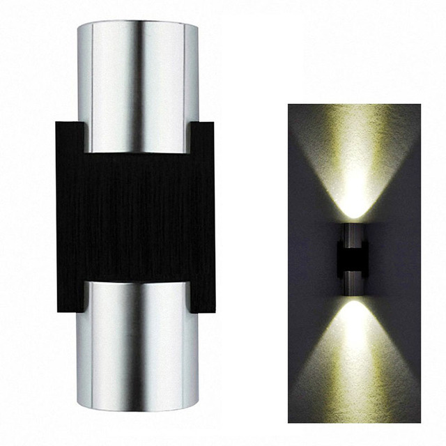 Modern 2w 6w Led Up Down Wall Sconce Lighting Spotlight Aluminum Fixture Decorative Lights Lamp For Bedroom Bathroom Ac85 265v