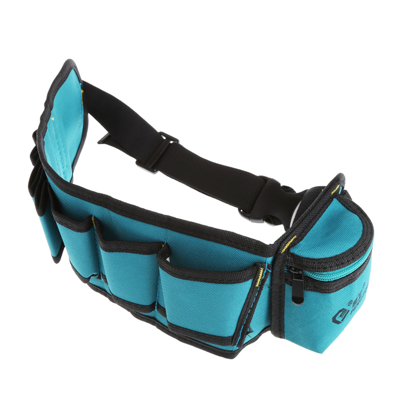 Multi-pockets Tool Bag Waist Pockets Electrician Tool Bag Organizer Carrying Pouch Tools Bag Belt Waist Pocket Case