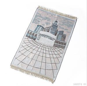 Image 5 - New Kaaba Pattern Islamic Prayer Carpet Muslim Rug Products Red Carpet Jute Mat Rectangle Patchwork Vintage Rug with Tassel Edge