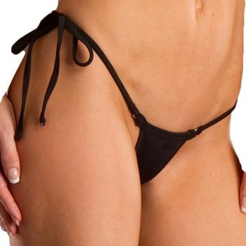 2018 tiny Sexy string side tie brazilian bikini bottom swimwear women micro mini Thong brasil Female Tanga panty underwear K100 2