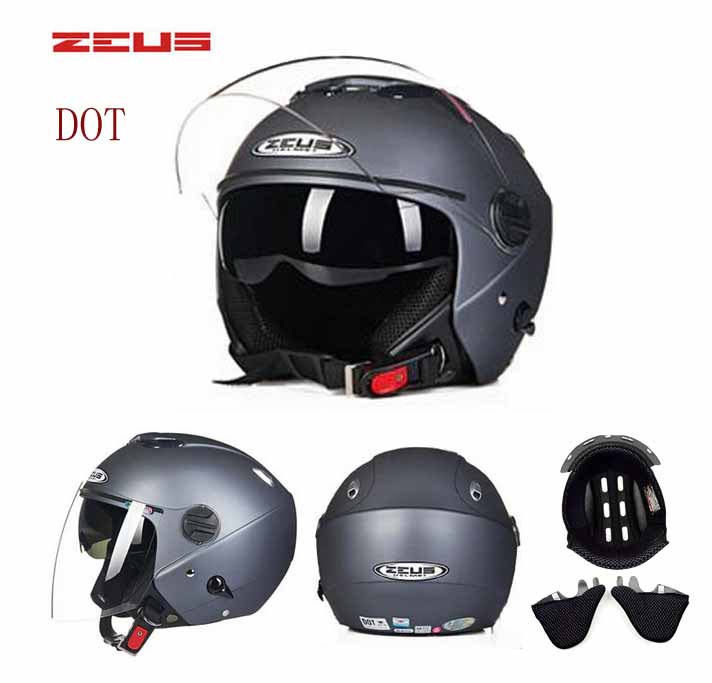 DOT ZEUS Double Lenses Motocross Helmets Motorcycle Street Country Open Face Motorbike Cool Goggles Racing Helmets Bike Scooter