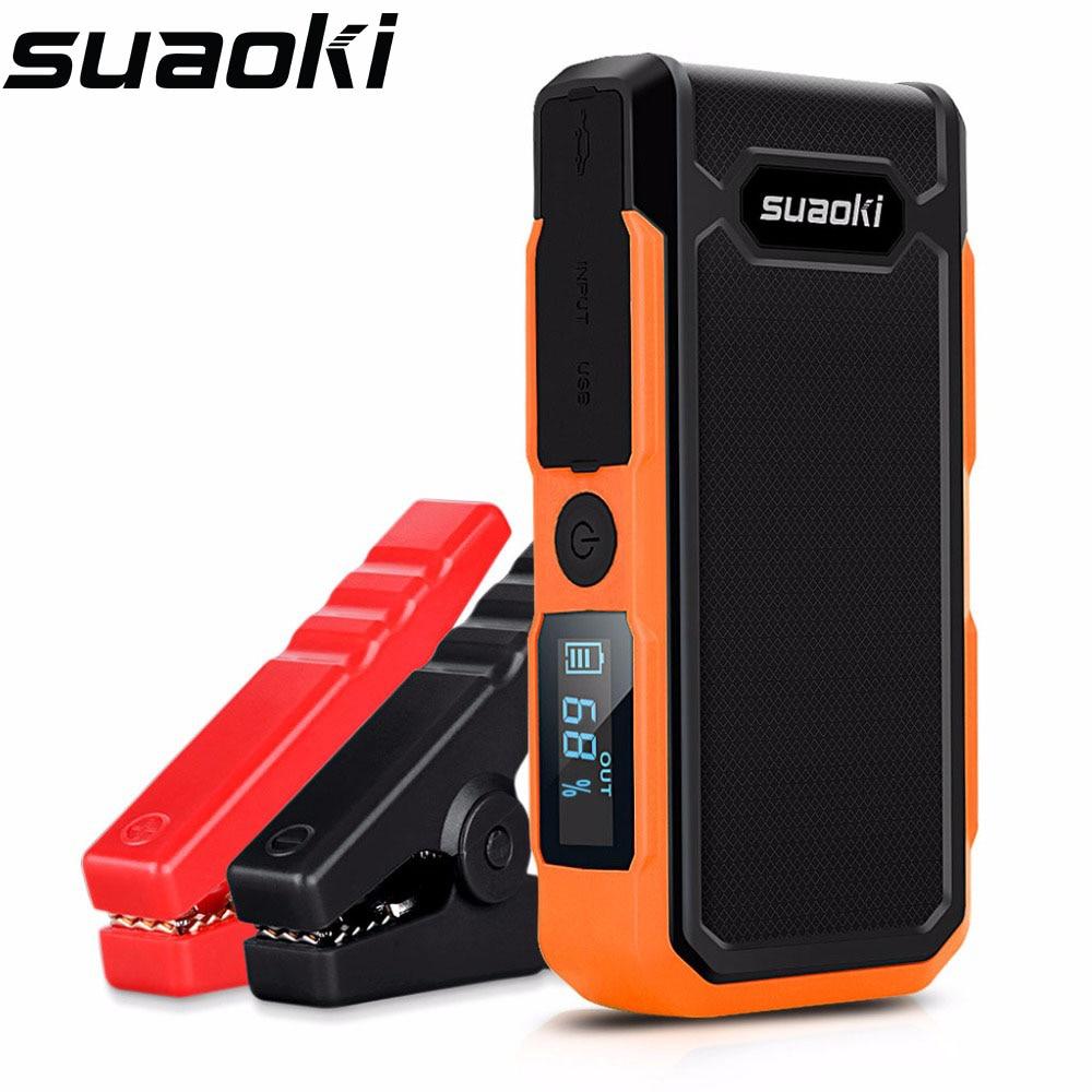 Suaoki U10 Car Jump Starter 20000mah Power Bank External Battery Pack Rechargeable Battery Light 12V For 6L Gas 5L Diesel Engine