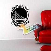 The Cool NBA Golden State Warriors logo wall stick team badge stickers removable vinyl sticker boy