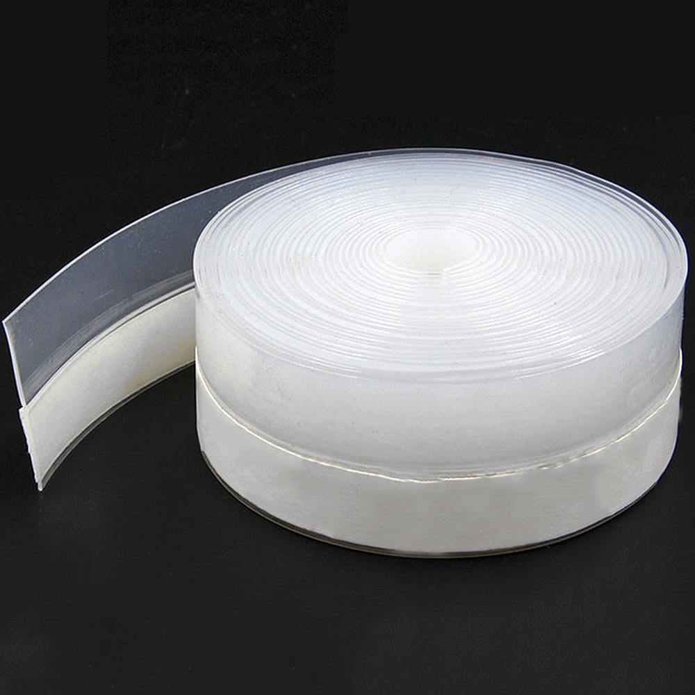 10m Clear Silicone Rubber 3M Adhesive Tape Sealing Strip For Door Window Sound Insulating Sliding Window Gaps Tape