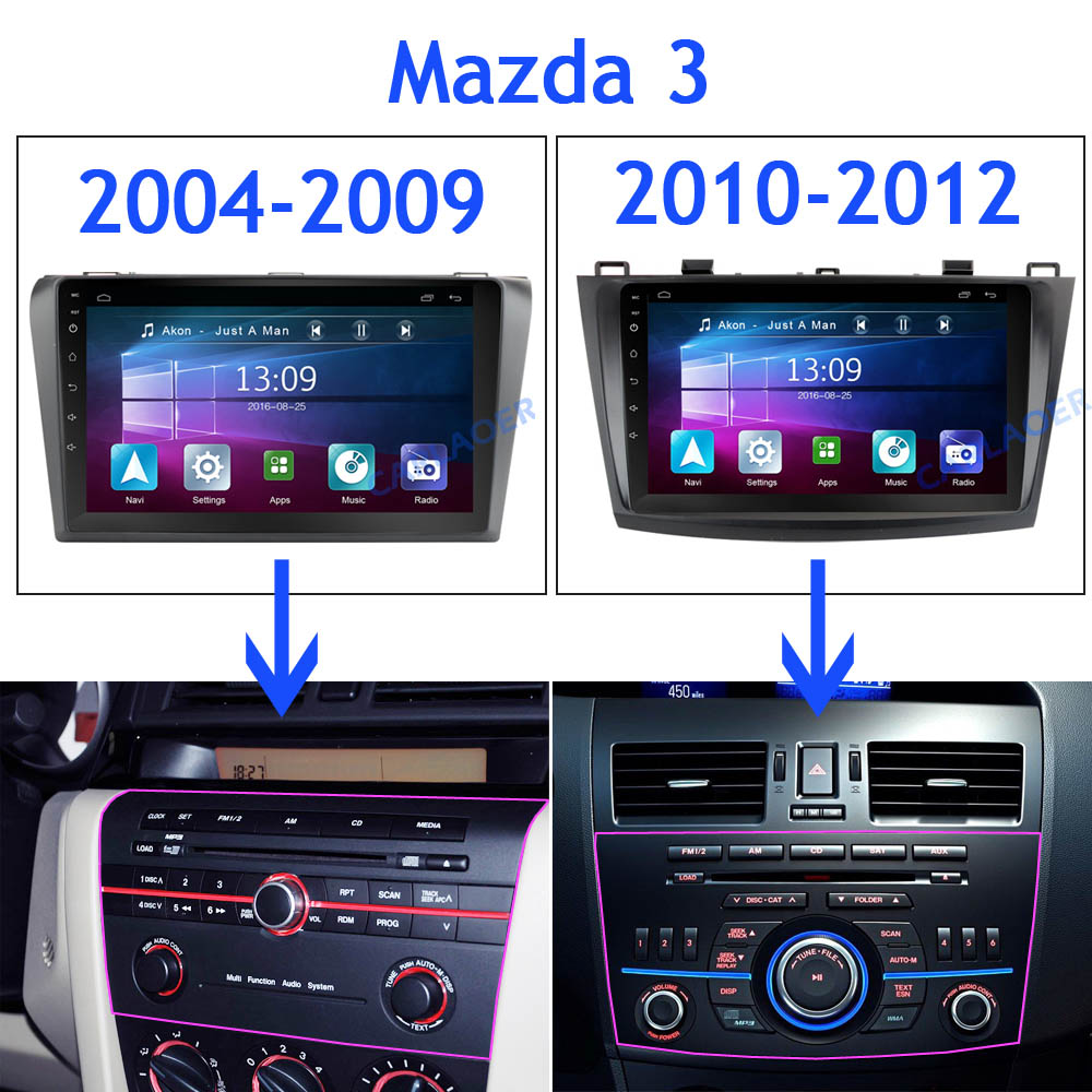 Image 4 - For Mazda 3 2004 2013 maxx axela android 8.1 Car DVD GPS Radio Stereo 1G 16G WIFI Free MAP Quad Core 2 din Car Multimedia Player-in Car Multimedia Player from Automobiles & Motorcycles