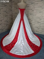 2017 Free Shipping Beading Embroidery A Line Sweetheart With Train Wedding Dresses