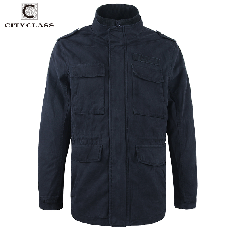 CITY CLASS 2017 Mens 100% Washed Cotton Windbreakers Casual Loose Stand Collar Multi-col ...
