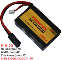 Wholesale 1pcs 100 Orginal Firefox 11 1V 1300mah 20C AKKU Mini Airsoft Gun Battery RC Model