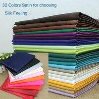 59 150cm Width Silk Satin Fabric Wedding Satin Polyester Satin Fabrics 32 Stock Colors 10 Meters