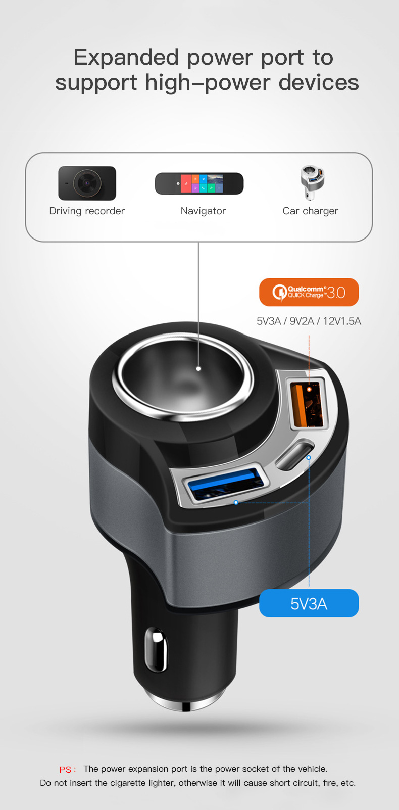 QC 3.0 USB Type C Car Charger (8)